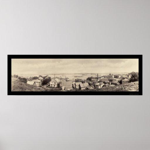 Foto 1916 de Eastport de los barcos de torpedo Póster
