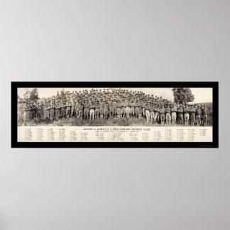 Foto 1916 de la artillería de Plattsburgh NY Póster
