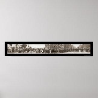 Foto 1916 del grupo de los Pythias de los caballer Posters
