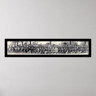Foto 1917 de los fusileros WWI Póster