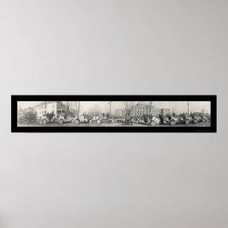 Foto 1917 del cuerpo de bomberos de Springfield Póster