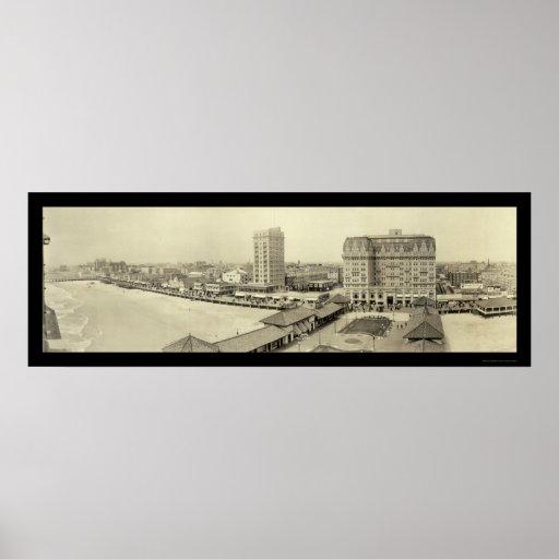 Foto 1917 del embarcadero de Atlantic City Póster