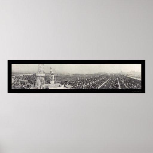 Foto 1918 de Chicago de la exposición de la guerra Póster