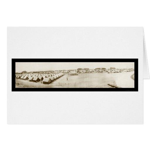Foto 1918 de Crockett TX del fuerte Tarjeta De Felicitación