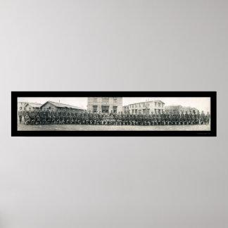 Foto 1918 de la escuela del ejército del capellán posters
