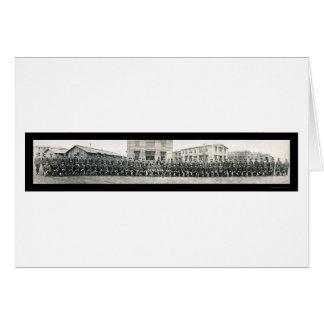 Foto 1918 de la escuela del ejército del capellán tarjeton