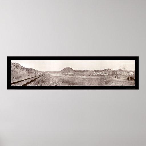 Foto 1918 de las primaveras de Thermopolis WY Póster