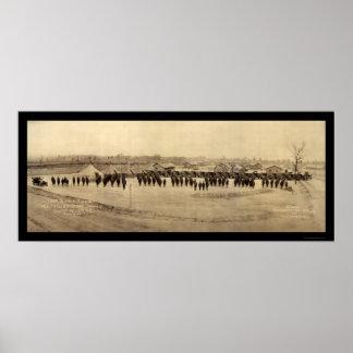 Foto 1918 de Sevier del tren de la fuente Póster
