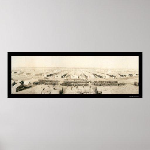 Foto 1918 del batallón de la ametralladora póster
