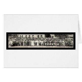 Foto 1918 del desfile de la libertad de las madres tarjeta de felicitación