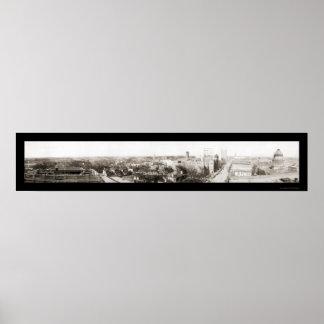 Foto 1918 del panorama de Charlotte NC Impresiones