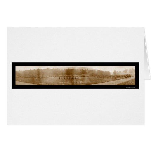 Foto 1918 del taladro del ejército del Mt Gretna Tarjeta De Felicitación