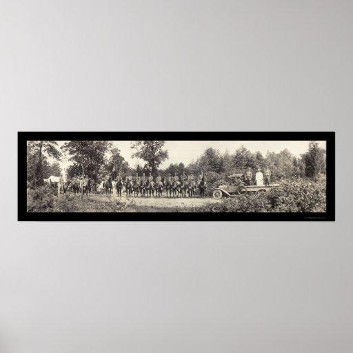 Foto 1919 de Denville NJ de los soldados Póster