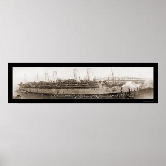 Foto 1919 de la nave de Kaiser Wilhelm Posters