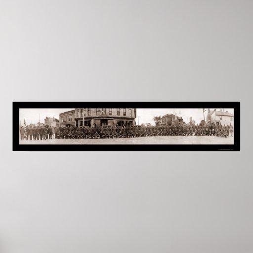 Foto 1919 de los WI de Chilton del regreso al hoga Póster