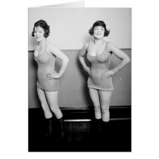 Foto 1919 del encanto del vintage de los chicas de tarjetas