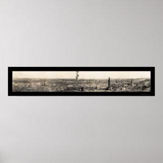 Foto 1919 del guardabosques TX de los campos petro Póster