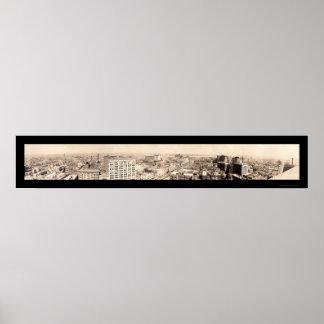 Foto 1919 del horizonte de New Orleans Póster