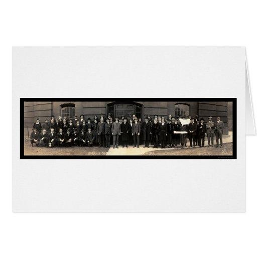 Foto 1919 del Washington DC de la oficina de las Tarjeta De Felicitación