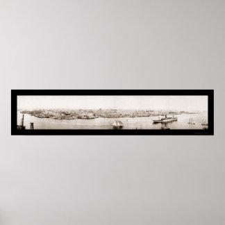 Foto 1920 de la costa de La Habana Cuba Impresiones