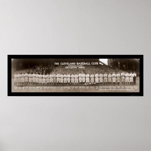 Foto 1920 del béisbol de los indios póster