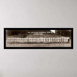 Foto 1920 del béisbol de los indios posters