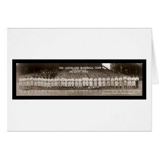 Foto 1920 del béisbol de los indios tarjeta de felicitación