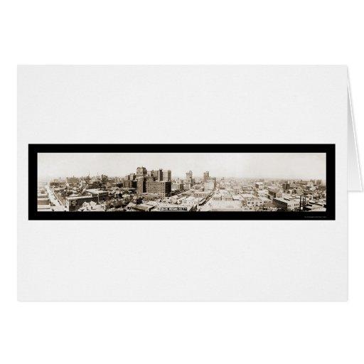 Foto 1920 del horizonte de Dallas TX Tarjeta De Felicitación