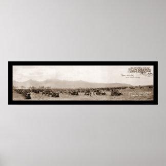 Foto 1921 de la artillería de Hawaii Póster