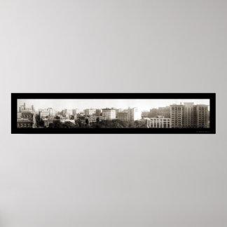 Foto 1921 del horizonte de Los Ángeles CA Póster