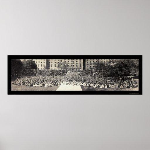 Foto 1922 de los estudiantes del Estado de Penn Posters
