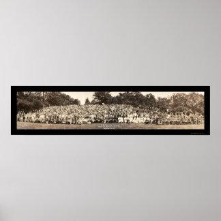 Foto 1923 de la reunión de familia de Pershing Póster