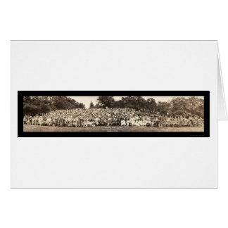 Foto 1923 de la reunión de familia de Pershing Tarjeta De Felicitación