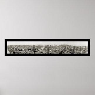 Foto 1923 de Long Beach del campo petrolífero Impresiones