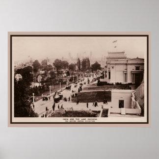Foto 1924 de la exposición del Imperio británico d Póster