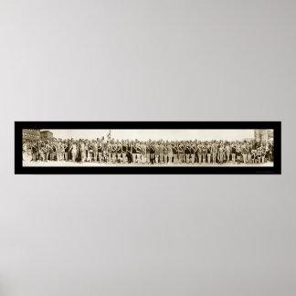 Foto 1925 del desfile de la belleza de Shriner Póster