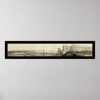 Foto 1926 de la presa de los bajíos del músculo póster