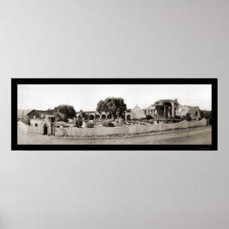 Foto 1926 de San Juan Capistrano CA Póster
