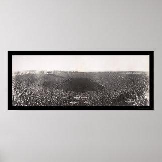 Foto 1927 del fútbol de Michigan Ohio Impresiones