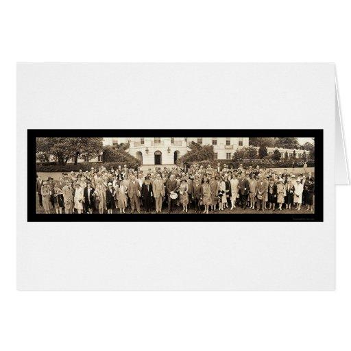 Foto 1928 del Washington DC de los bibliotecarios Tarjeta De Felicitación