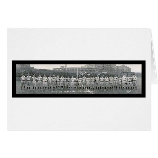 Foto 1929 de los campeones de los Chicago Cubs Tarjeta De Felicitación