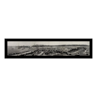 Foto 1929 del puerto de La Habana del buque de gue Posters