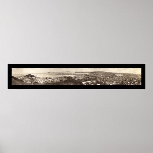 Foto 1930 de Amador Panamá del Ancon Póster
