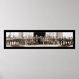 Foto 1935 de la visita de la cabina de las concesi póster