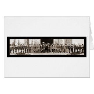 Foto 1935 de la visita de la cabina de las concesi tarjeton