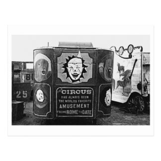 Foto 1937 de Montana del vintage del carro de circ Tarjetas Postales