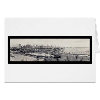 Foto 1938 de la orilla del lago de Chicago Tarjeta De Felicitación