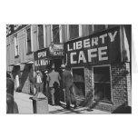 Foto 1939 del restaurante del vintage del café de  tarjeton