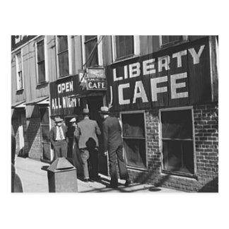 Foto 1939 del restaurante del vintage del café de postal