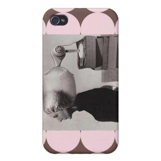 - Foto 1960 de la belleza del vintage iPhone 4/4S Fundas